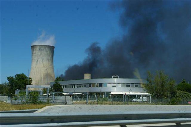 2008年7月法国南部小镇tricastin核爆炸现场