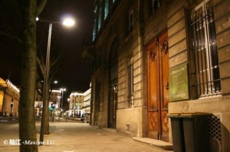 波尔多市区葡萄酒大厦夜景