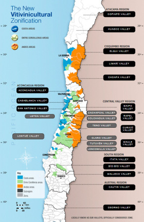 wine map of chile